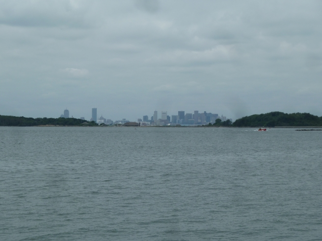 Boston cityscape from Georges Island